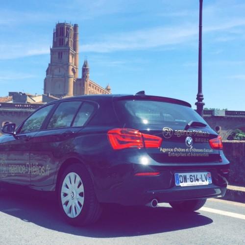 Covering BMW Agence Hélios Rodez Aveyron voiture de société